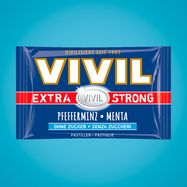 VIVIL EXTRA STRONG sugar-free lozenges